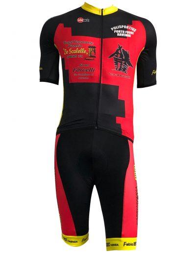 completo maglie ciclismo personalizzate polisportiva portofuori